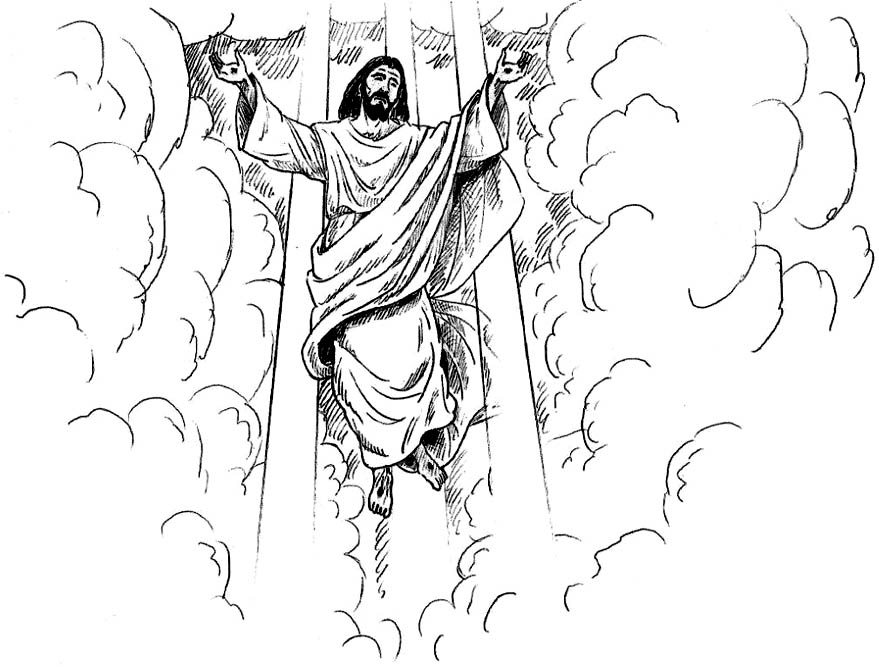 return of jesus coloring pages - photo#15